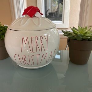 "Rae Dunn ""MERRY CHRISTMAS"" Canister - Large"